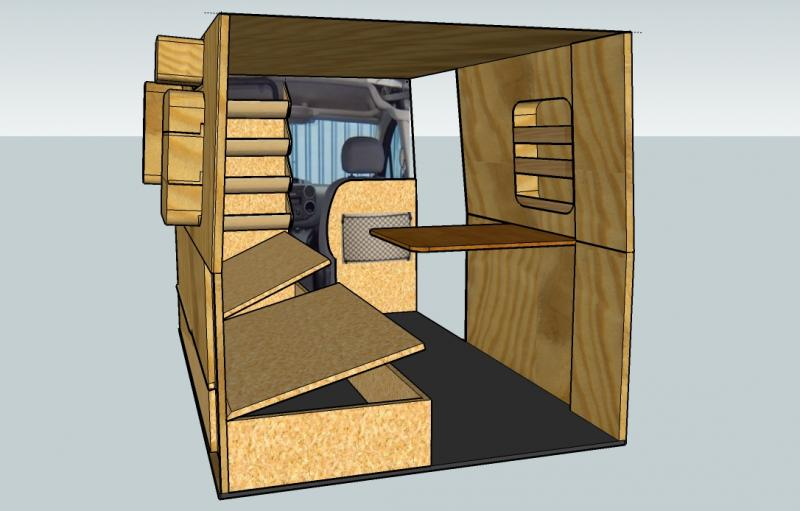 am nagement de camion fourgon camionnette. Black Bedroom Furniture Sets. Home Design Ideas