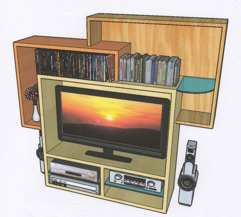 meuble tv dangle vitre avec plateau de rangements – Artzeincom -> Meuble Tv DAngle Large Et Vitre